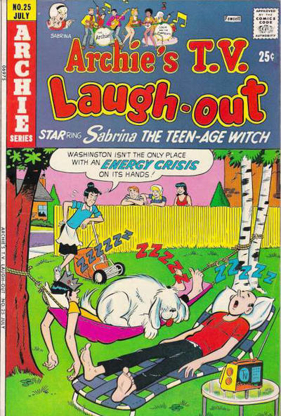Cover for Archie&#39;s TV Laugh-Out (1969 series) #25