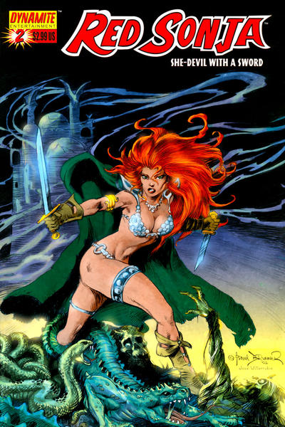 Cover for Red Sonja (Dynamite Entertainment, 2005 series) #2 [Art Adams Cover]