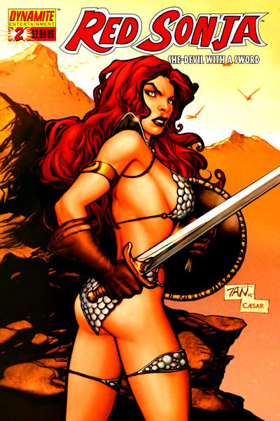 Cover for Red Sonja (2005 series) #2 [Mel Rubi Wraparound Cover]