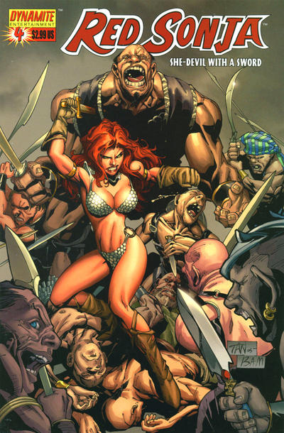Cover for Red Sonja (Dynamite Entertainment, 2005 series) #4 [Cully Hamner Cover]