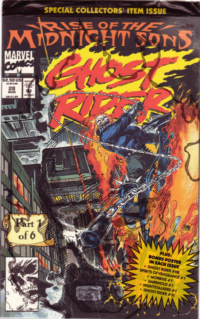 Cover for Ghost Rider (Marvel, 1990 series) #28 [Direct Edition]