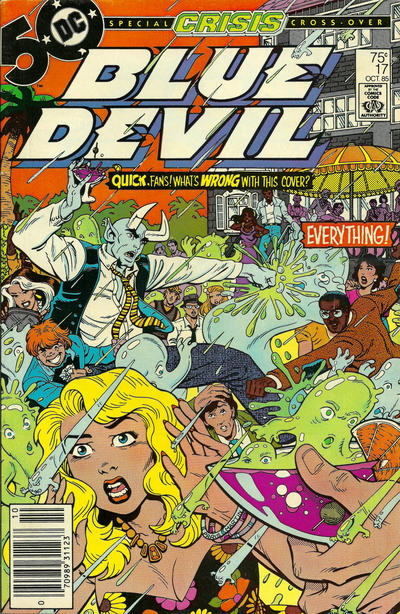 Cover for Blue Devil (DC, 1984 series) #17 [Direct Market]