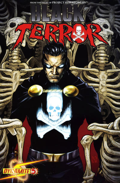 Cover for Black Terror (Dynamite Entertainment, 2008 series) #5 [Jonathan Lau Cover]
