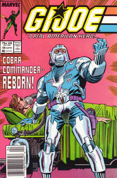 Cover for G.I. Joe, A Real American Hero (Marvel, 1982 series) #58 [Newsstand]