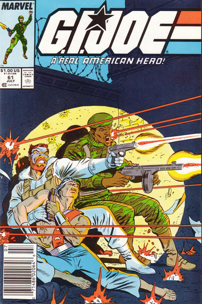 Cover for G.I. Joe, A Real American Hero (Marvel, 1982 series) #61 [Newsstand Edition]