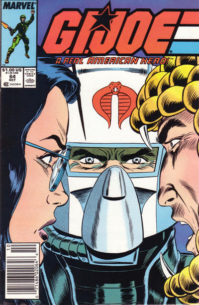 Cover for G.I. Joe, A Real American Hero (Marvel, 1982 series) #64 [Direct Edition]