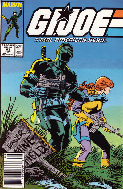 Cover for G.I. Joe, A Real American Hero (1982 series) #63 [Direct]