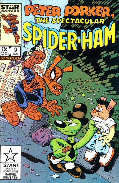Cover for Peter Porker, the Spectacular Spider-Ham (Marvel, 1985 series) #9 [Newsstand Edition]