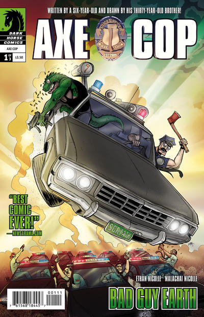Cover for Axe Cop: Bad Guy Earth (Dark Horse, 2011 series) #1