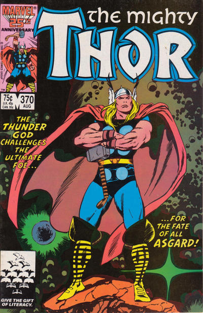 Cover for Thor (1966 series) #370 [Newsstand]