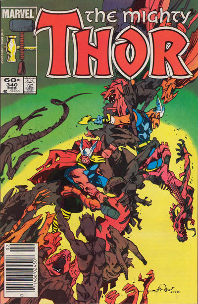 Cover for Thor (Marvel, 1966 series) #340 [Canadian variant]