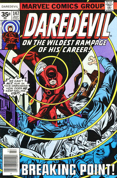Cover for Daredevil (Marvel, 1964 series) #147 [35 cent cover price variant]