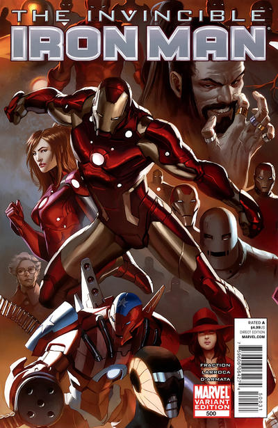 Cover for Invincible Iron Man (2008 series) #500 [Variant Edition - Marko Djurdjevic]