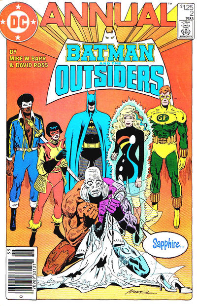 Cover for Batman and the Outsiders Annual (1984 series) #2 [Newsstand]