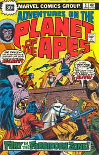 Cover Thumbnail for Adventures on the Planet of the Apes (Marvel, 1975 series) #5 [30 cent cover price variant]