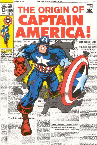 Cover for Captain America #109 [JC Penney Marvel Vintage Pack] (Marvel, 1994 series) #[nn]