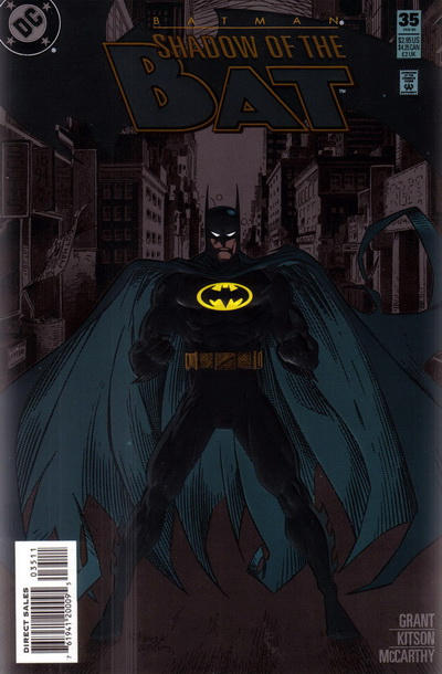 Cover for Batman: Shadow of the Bat (DC, 1992 series) #35 [Embossed Cover]