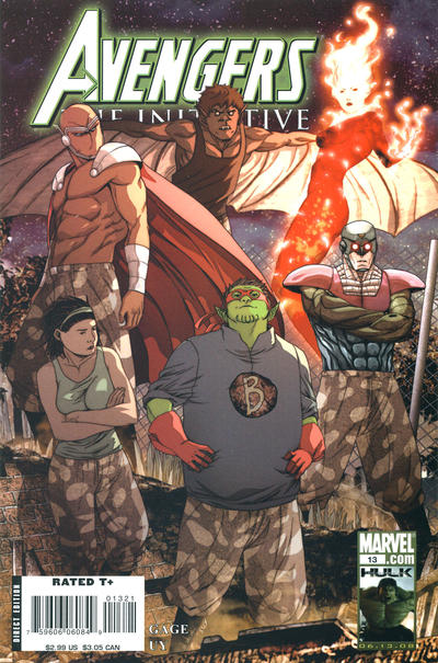 Cover for Avengers: The Initiative (Marvel, 2007 series) #13 [Standard Cover]