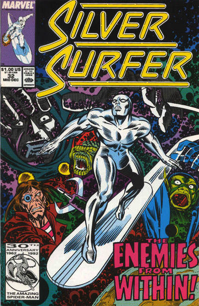 Cover for Silver Surfer (Marvel, 1987 series) #32 [Newsstand Edition]