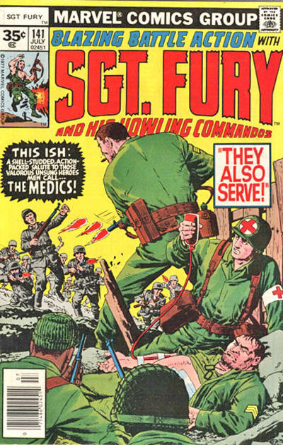 Cover for Sgt. Fury and His Howling Commandos (Marvel, 1974 series) #141 [35 cent cover price variant]