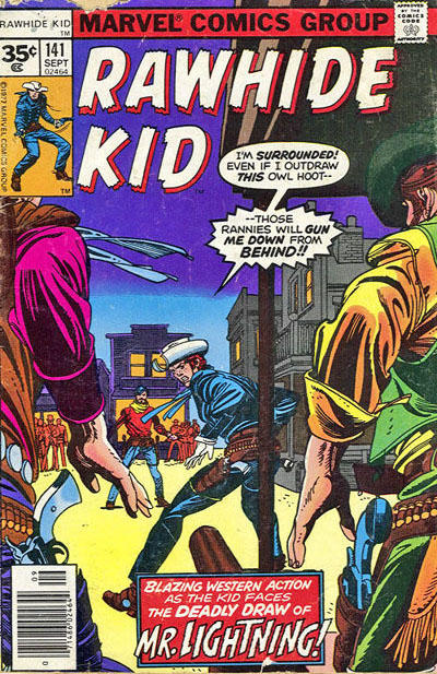 Cover for The Rawhide Kid (Marvel, 1960 series) #141 [30 cent cover price]