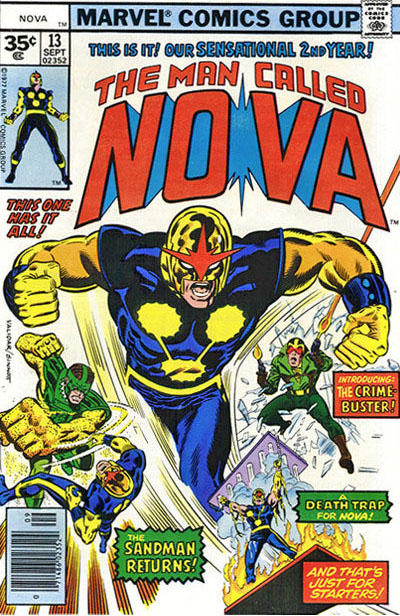 Cover for Nova (Marvel, 1976 series) #13 [30¢ edition]