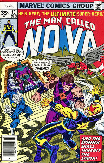 Cover for Nova (Marvel, 1976 series) #10 [35¢ edition]