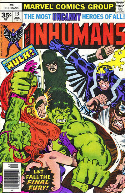 Cover for The Inhumans (Marvel, 1975 series) #12 [35 cent cover price variant]