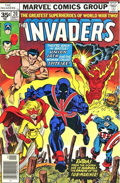 Cover for The Invaders (Marvel, 1975 series) #20 [30 cent cover price]