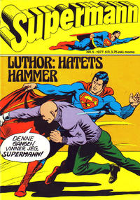 Cover Thumbnail for Supermann (Semic, 1977 series) #5/1977