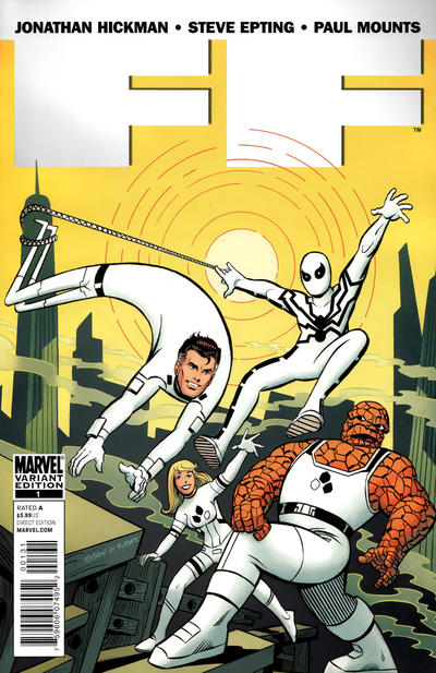 Cover for FF (Marvel, 2011 series) #1 [Goldberg]