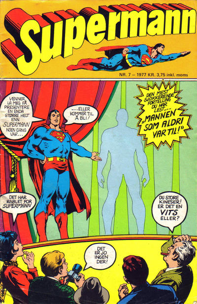 Cover for Supermann (Semic, 1977 series) #7/1977