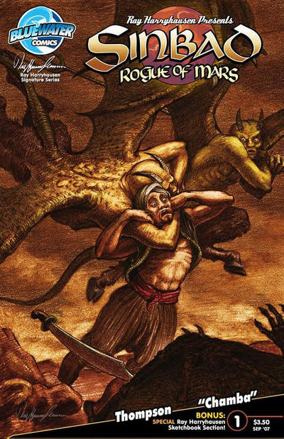 Cover for Sinbad: Rogue of Mars (Bluewater Productions, 2007 series) #1 [Cover A]