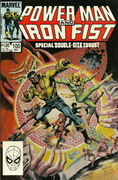 Cover for Power Man and Iron Fist (Marvel, 1981 series) #100 [newsstand]