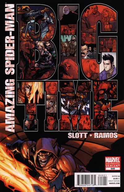 Cover for The Amazing Spider-Man (1999 series) #649 [2nd Printing Variant]