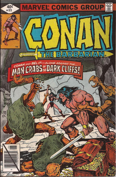 Cover for Conan the Barbarian (Marvel, 1970 series) #99 [Newsstand Edition]