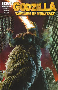 Cover for Godzilla: Kingdom of Monsters (2011 series) #1 [Second Printing: The Core Cover]