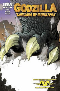 Cover Thumbnail for Godzilla: Kingdom of Monsters (IDW Publishing, 2011 series) #1 [Warp 9 Cover]