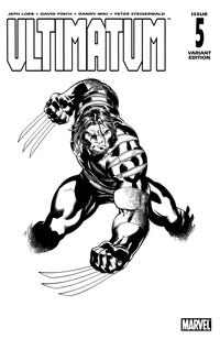 Cover Thumbnail for Ultimatum (Marvel, 2009 series) #5 [Variant Edition - Ed McGuinness Black-and-White]