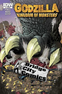 Cover Thumbnail for Godzilla: Kingdom of Monsters (IDW, 2011 series) #1 [Bridge City Comics Cover]