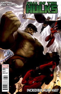 Cover for Incredible Hulk (Marvel, 2009 series) #607 [Direct Edition]
