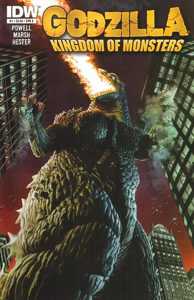 Cover for Godzilla: Kingdom of Monsters (2011 series) #1 [Heroes & Fantasies Cover]
