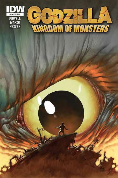 Cover for Godzilla: Kingdom of Monsters (2011 series) #1 [Second