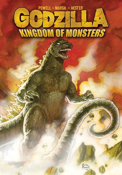 Cover for Godzilla: Kingdom of Monsters (2011 series) #1 [Second Printing: Austin Books & Comics 2 Cover]
