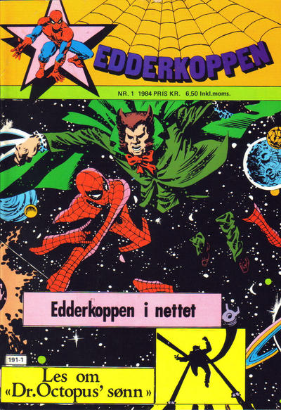 Cover for Edderkoppen (Atlantic Forlag, 1978 series) #1/1984