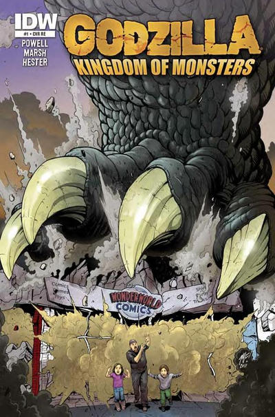 Cover for Godzilla: Kingdom of Monsters (2011 series) #1 [Alakazam!  Cover]
