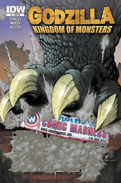 Cover for Godzilla: Kingdom of Monsters (2011 series) #1 [Second Printing:  4-Color Fantasies Cover]
