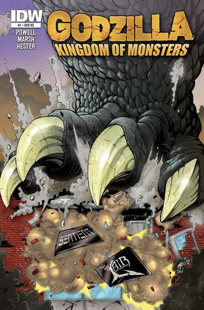 Cover for Godzilla: Kingdom of Monsters (2011 series) #1 [Ssalefish Comics Cover]