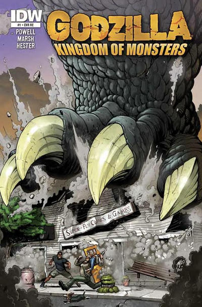 Cover for Godzilla: Kingdom of Monsters (2011 series) #1 [Second Printing: Time Warp Cover]