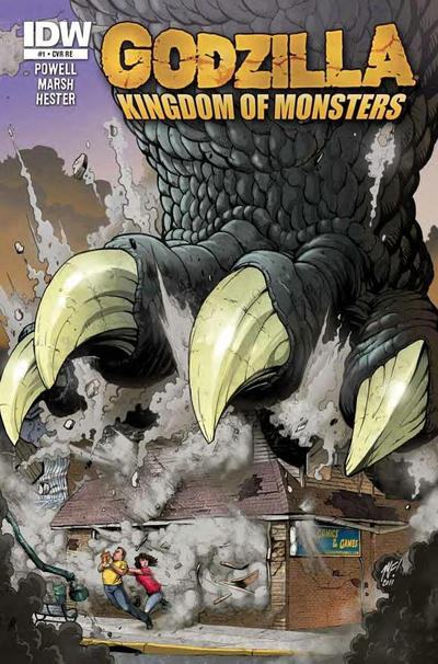 Cover for Godzilla: Kingdom of Monsters (2011 series) #1 [Newberry Comics Cover]